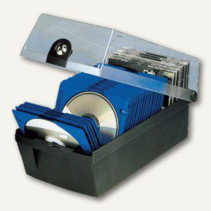 HAN CD-Box MÄX 60, max. 60 CDs, mit Schloss, schwarz, 9260-13