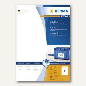 """Herma Etiketten """"Special"""", 210x297mm, 90 g/qm, weiß, 100 Stück, 4819"""