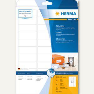 """Herma Etiketten """" Special"""", 63.5x25.4mm, 90 g/qm, Rand, weiß, 825 Stück, 8837 - Vorschau"""