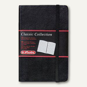 Herlitz Notizbuch Classic Collection, DIN A6, 96 Blatt 80g/m², kariert, 10789436