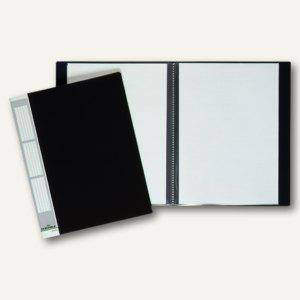 Durable Duralook Sichtbuch DIN A4 mit 20 Hüllen, schwarz, 2422-01