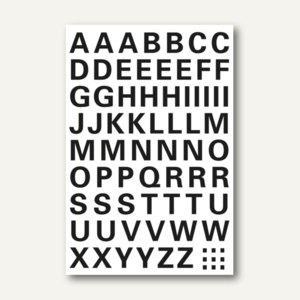 Buchstaben, 10 mm, A-Z, wetterfest, Folie transp., schwarz, 10 x 1 Blatt, 4158 - Vorschau