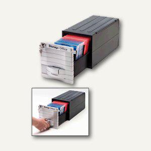 Exponent CD/CD-ROM Box Media Solution, silber/schwarz, 34601