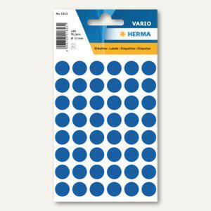 Herma Vielzweck-Etiketten, ø 13 mm, dunkelblau, 10 x 240 Stück, 1853 - Vorschau
