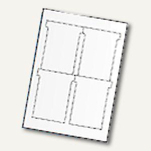 Ultradex T-Karten, bedruckbar, 92 x 120 mm Breitformat, weiß, 80 St., 543458 - Vorschau