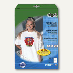 Sigel Transferfolie für helle T-Shirts, weiß, 10 Blatt, IP651
