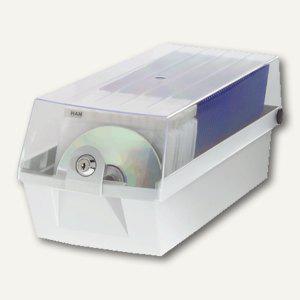 HAN CD-Box MÄX 60, max. 60 CDs, mit Schloss, grau, 9260-11