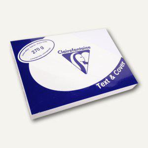 Clairefontaine Einbanddeckel, DIN A4, leinengeprägt, weiß, 100 Stück, 2726C - Vorschau