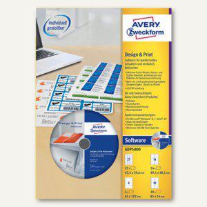 Zweckform Software DesignPro 5, zum Gestalten und Drucken, ADP5000