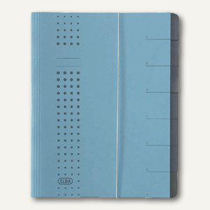 Elba chic-Ordnungsmappe, DIN A4, 7 Fächer, Karton 450 g/qm, blau, 400002020 - Vorschau