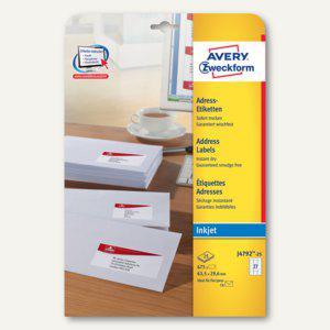 Zweckform Adress-Etiketten für C6, Inkjet, 63.5 x 29.6 mm, 675 St., J4792-25 - Vorschau