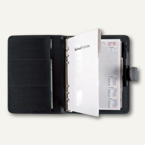 bind Systemplaner A5, inkl. Kalender, Lederimitat, Druckknopf, schwarz, 15501 - Vorschau