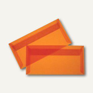 Briefumschlag DIN lang, haftklebend, 100 g/m² transparent-orange, 100 St., 19594 - Vorschau