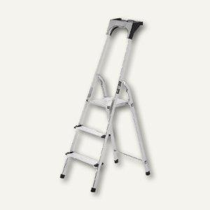 Brennenstuhl Alu-Haushaltsleiter, 3 Stufen, Arbeitsschale, 1401230 - Vorschau
