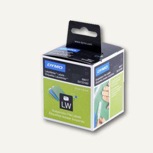 Dymo Hängeablage-Etiketten, permanent, 12 x 50 mm, weiß, 220 Stück, S0722460 - Vorschau