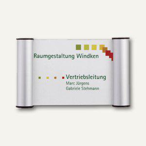 Franken Türschild mit Cliprahmen, Acrylglas, 180 x 115 mm, silber, BS0602 - Vorschau