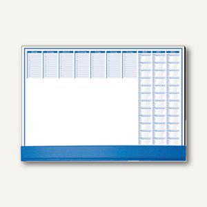 Schreibunterlage m. Schutzklappe, 59.5 x 41 cm, 80 g/qm, blau, 50 Blatt, 82555 - Vorschau