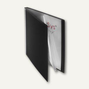 FolderSys Sichtbuch DIN A4, incl. 20 Hüllen, schwarz, 20 St., 2500230