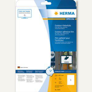 Folien-Etiketten Outdoor, wetterfest, 210 x 297 mm/DIN A4, matt-weiß, 10 St.