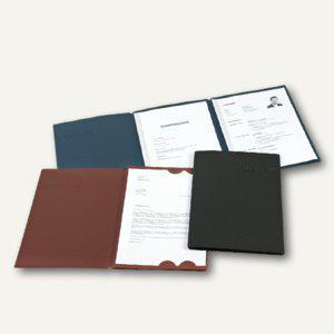 Bewerbungsmappe Slide L, 3-tlg, A4, 320g/m², Prägung, stahlblau, 10St., 22441016