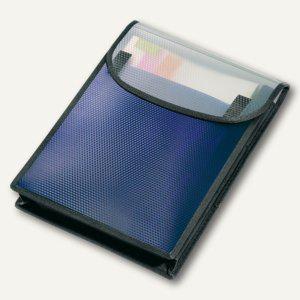 Veloflex Sammelbox VELOBAG® A4 hoch, 6-tlg. Fach, PP blau, 12 St., 1442450 - Vorschau