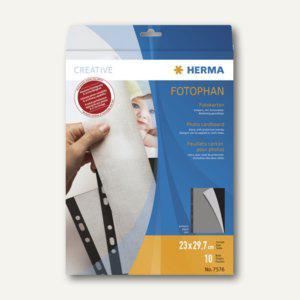 Herma Fotokarton, 230 x 297 mm, 220 g/m², schwarz, 50 Blatt, 7576 - Vorschau