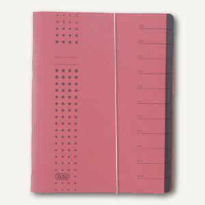 Elba chic-Ordnungsmappe, DIN A4, 12 Fächer, rot, Karton 450 g/qm, 400001993 - Vorschau