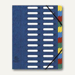 Exacompta Ordnungsmappe DIN A4, 24-teilig, blau, 55242E - Vorschau