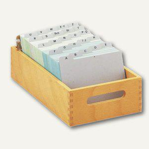 HAN Karteitrog DIN A5, Holz natur, für 1.000 - 1.500 Karten, 1005-0 - Vorschau