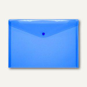 FolderSys Dokumententaschen DIN A4 quer, blau, Druckknopf, 100 St., 40111-44 - Vorschau