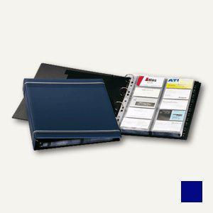 Durable Visifix Visitenkartenringbuch für 400 Karten, dunkelblau, 2388-07 - Vorschau