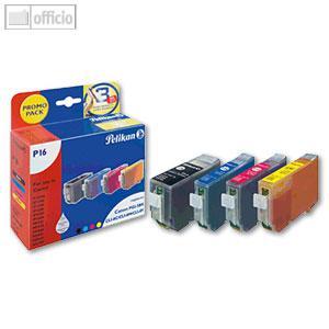 Pelikan Tintenpatronen P16, sw/c/m/g, 1 x 27 ml, 3 x 13 ml, 361813 - Vorschau
