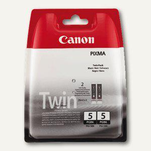 Canon Tintenpatrone MP800, PGI-5BK Twin-Pack, schwarz, 2 Stück, 0628B025 - Vorschau