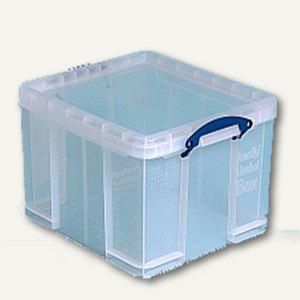 Aufbewahrungsbox 42 Liter, 405 x 365 x 280 mm, transparent, 2 Stück, 42C - Vorschau
