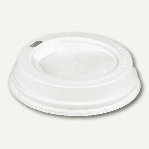 """Papstar Dom-Deckel für Kaffeebecher """" To Go"""", Ø 8 cm, weiß, 100 Stück, 14809 - Vorschau"""