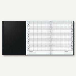 """Buchkalender """" ultraplan"""" - zeitlos, 1 Tag/2 Seiten, 195 x 300 mm, schwarz, 70220 - Vorschau"""