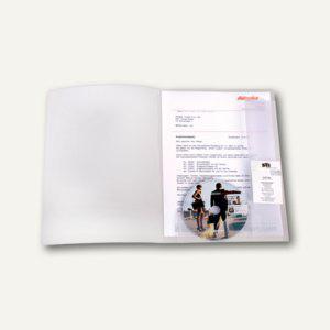 Angebotsmappe mit CD-& Prospekthalter, A4, PP/500 my, 30Bl., transparent, 25St., - Vorschau