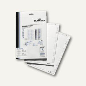 Durable Einsteckschilder Badgemaker, 90 x 60 mm, 180 Stück, 1457-02 - Vorschau