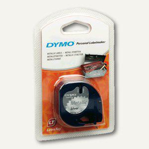 Dymo Etikettenband LetraTag, 12 mm silbermetallic, S0721750 - Vorschau
