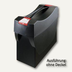 Hängemappenbox Swing DIN A4, PS, für 20 Mappen/3 Ordner, ohne Deckel, schwarz - Vorschau