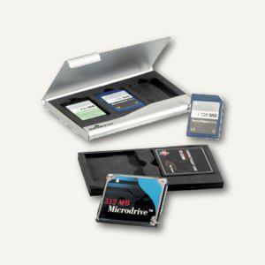 Durable Memory Card Box, metallic-silber, 5 Stück, 5309-23