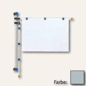 MAUL Wandpresenter, Höhe 1 m, für DIN A0, Alu, grau, 6253084 - Vorschau
