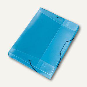 Veloflex Sammelbox Crystal A4, PP, 30mm Füllhöhe, transp. blau, 12 St., 4443250 - Vorschau