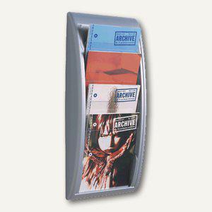 """Wandhalter """" Quick Fit"""", 4 Fächer DIN A4, 65 x 29 x 9, 5 cm, aluminiumfarben, 4061 - Vorschau"""