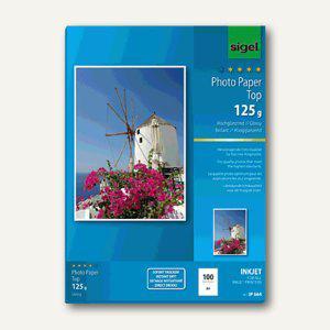 """Sigel Fotopapier """" Top"""", DIN A4, 125 g/m², glossy, 100 Blatt, IP664 - Vorschau"""