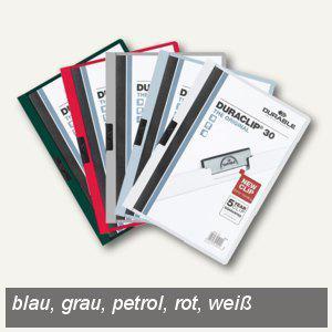 Klemm-Mappe DURACLIP, DIN A4, bis 30 Blatt, farbig sortiert, 25 Stück, 2200-00