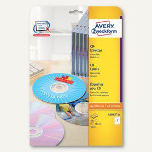Zweckform CD-Etiketten ClassicSize, für alle Drucker, weiß, 50 Stück, L6043-25