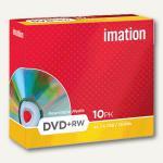 DVD+RW Rohlinge, 4.7 GB, 4x Speed, wiederbeschreibbar, Jewel Case, 10 St., 19008