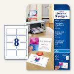 Visitenkarten PREMIUM, 85x54mm, 240g/m², glanz+matt, beidseitig, Inkjet, 200 St.