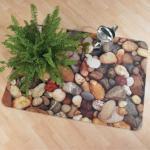 Bodenschutzmatte foto ultimat, Kieselsteine, Hartböden, 90x120cm, FC229220ECPB